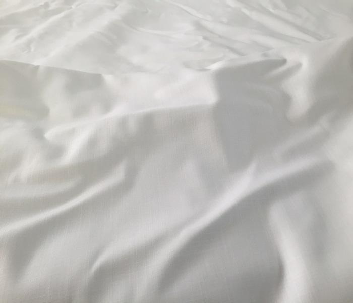 Tissu coton grande largeur au m tre chez plan te tissus - Nappe en coton blanc ...