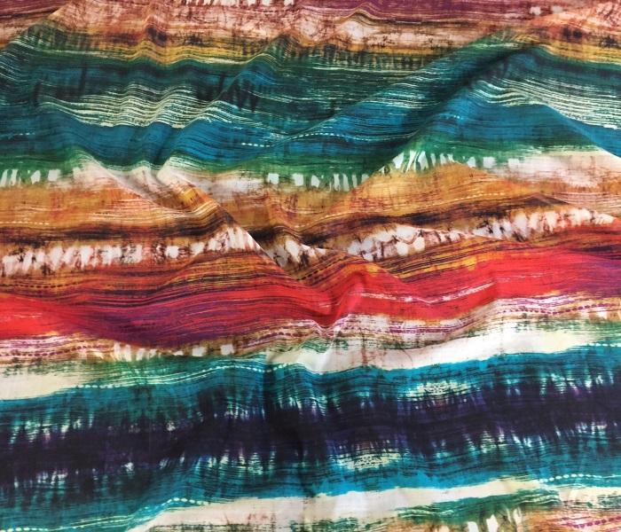 Voile coton de soie imprim au m tre chez planete tissus - Voile de forcage au metre ...