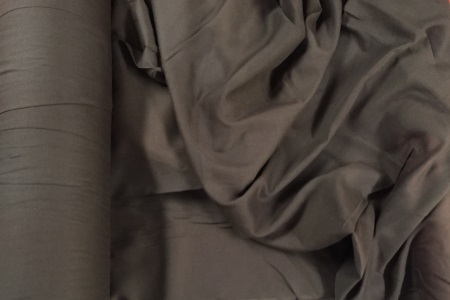 Voile poly-coton marron