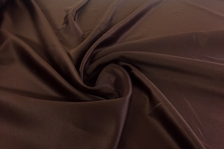 Satin duchesse marron