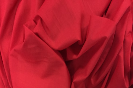 Voile poly-coton rouge