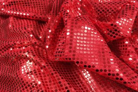 Tissu paillettes rouge au m tre chez plan te tissus for Tissu exterieur au metre