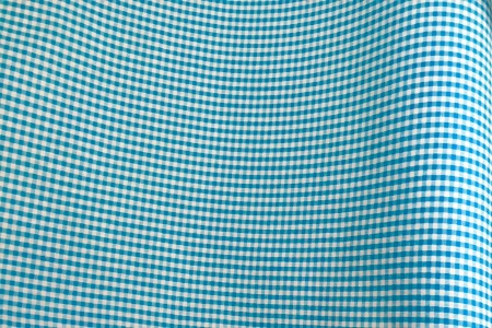 Coton zephir vichy turquoise